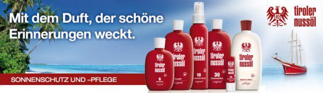 Sonnenschutz und -pflege von Tiroler Nussöl