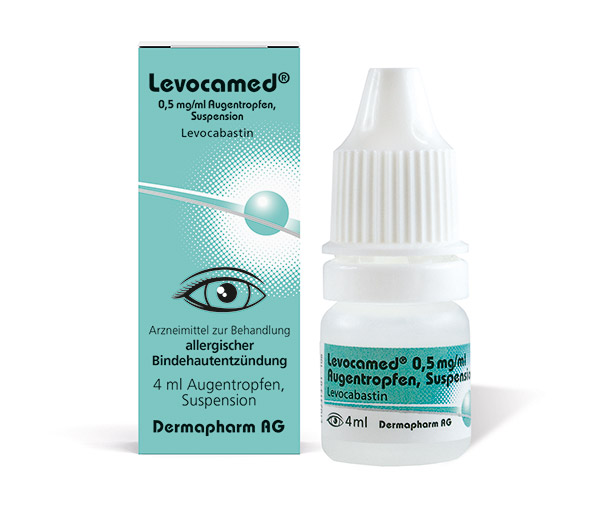 Levocamed<sup>®</sup> 0,5 mg/ml Augentropfen, Suspension